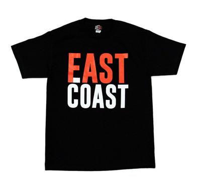 East Coast Fast Coast Bold T-Shirt   Black/Red