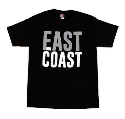 East Coast Fast Coast Bold T-Shirt   Black/Grey