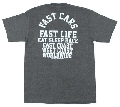 Fast Cars Pocket T-Shirt   Charcoal
