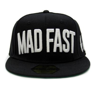 Mad Fast Snapback Hat | Black/White