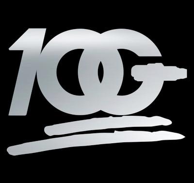 OG 100 Decal   Silver