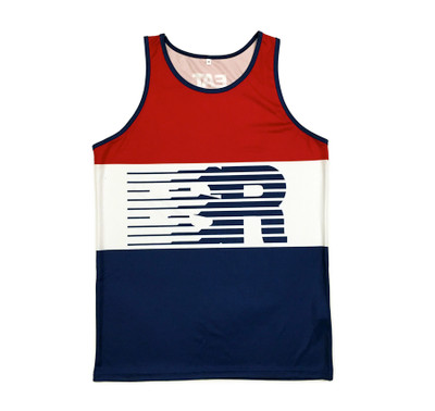 Speedlines Performance Tank Top | Red/White/Blue