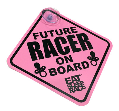 Future Racer on Board Car Sign | Pink