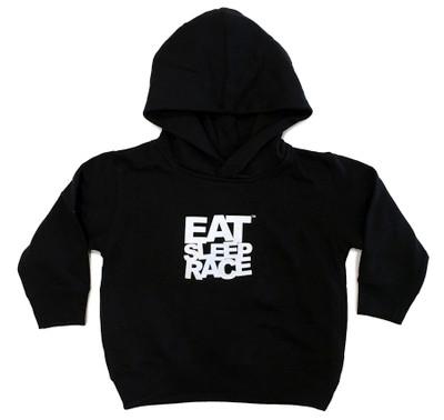 Toddler Logo Pull Over Hoodie | Black/White