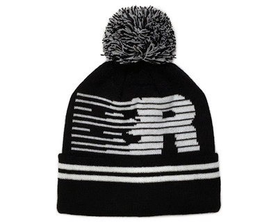 Speedlines Pom Beanie | Black/White