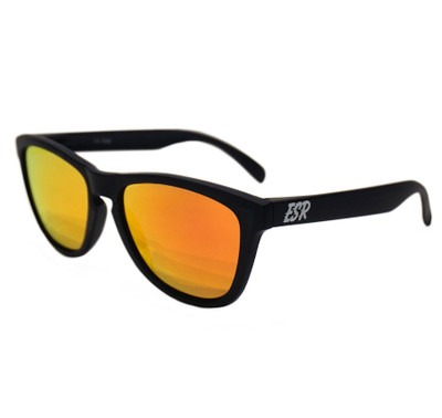 ESR Fastlife Sunglasses | Matte Black/Orange Iridium (UV400) | Pouch