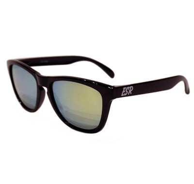 ESR Fastlife Sunglasses | Black/Yellow Iridium (Polarized) | Hard Case
