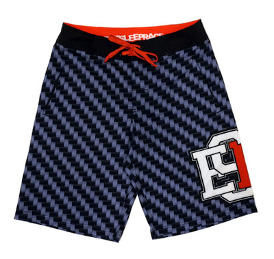 Board Shorts | Carbon Fiber Red