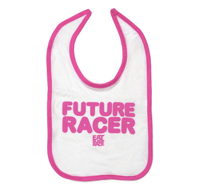 Infant Future Racer Bib | Pink/White