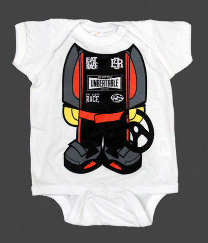 Infant One Piece Racer   Red