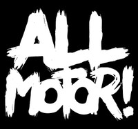 All Motor Vinyl Decal | White