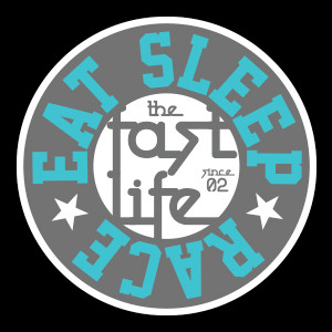 Fast Life Cap Sticker | Grey/Teal