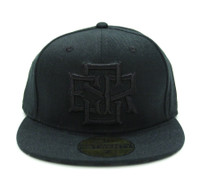 ESR Stack Fitted Hat | Black-Black