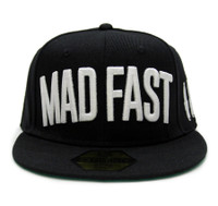Mad Fast Snapback Hat | Black/White