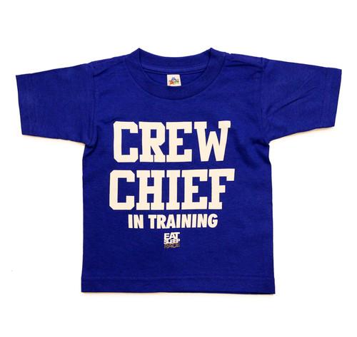 Kids Crew Chief T-Shirt | Blue