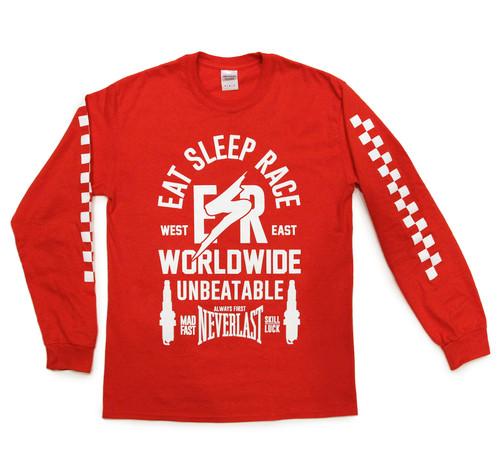 ESR Bolt Long Sleeve Shirt | Red
