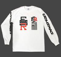 Race Circle Long Sleeve Shirt | White