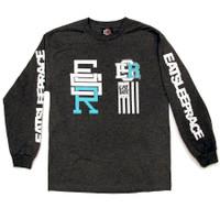 Race Circle Long Sleeve Shirt | Charcoal