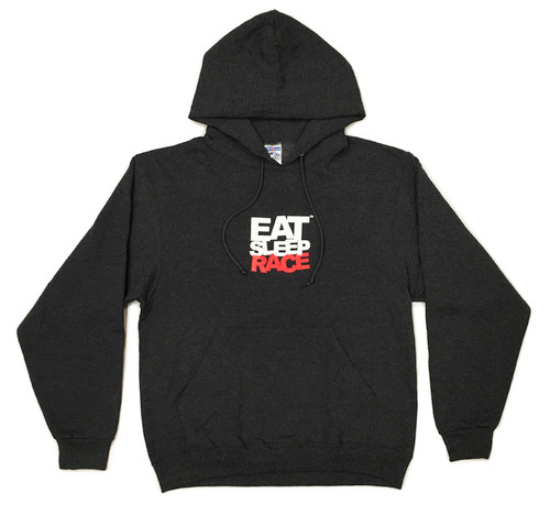 Pull Over Team Logo Hoodie | Charcoal/Red