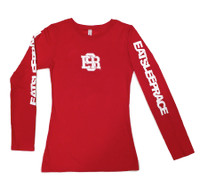 Ladies ESR Long Sleeve Shirt | Red