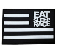 Rubber Velcro Flag Patch | Black/White