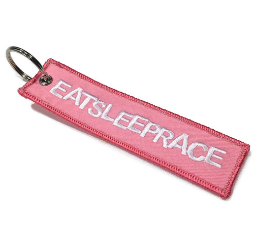 Embroidered Keychain | Pink