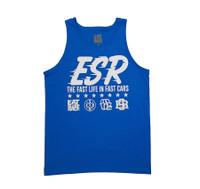 ESR Fast Life Tank Top | Laser Blue