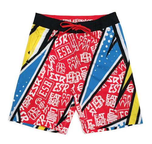 Board Shorts | ESR Rad Pattern Yellow