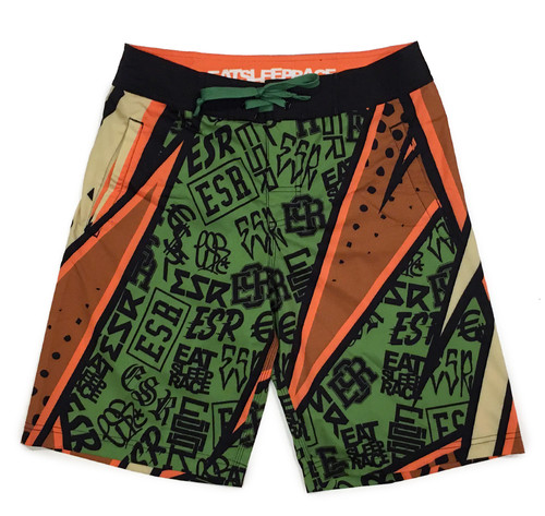 Board Shorts | ESR Rad Pattern Khaki
