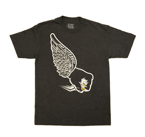 Skull Wing T-Shirt | Charcoal