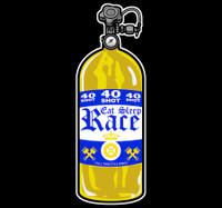 40 Shot Sticker | Gold/Navy
