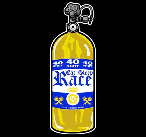 40 Shot Sticker   Gold/Navy