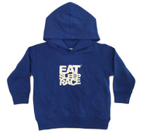 Toddler Logo Pull Over Hoodie | Blue/White
