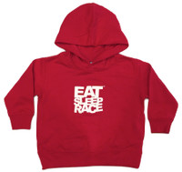 Toddler Logo Pull Over Hoodie | Red/White