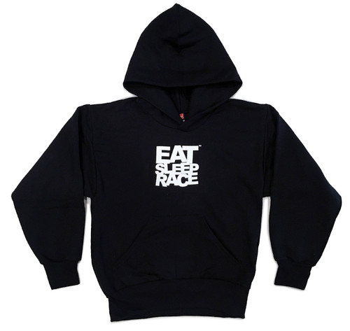 Kids Logo Pull Over Hoodie | Black/White
