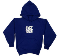 Kids Logo Pull Over Hoodie | Blue/White
