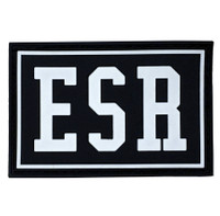 Rubber Velcro ESR Patch | Black/White