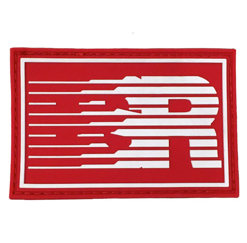 Rubber Velcro ESR Speedlines Patch | Red/White