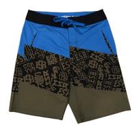 Board Shorts | ESR Bolt Pattern Blue