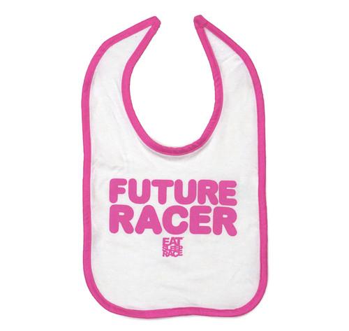 Infant Future Racer Bib | Pink/White