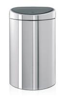 Brabantia 40 Litre Touch Bin in Brilliant Steel