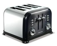 Morphy Richards 44733 Accents Translucent Black 4 Slice Toaster