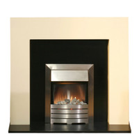 Adam Miami Ivory and Black with Helios Electric Fire