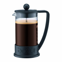 Bodum Brazil Coffee Press, 3 Cup Cafetiere - Black