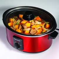Morphy Richards 48702 Sear and Stew Slow Cooker in Red