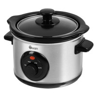 Swan 1.5 Litre Slow Cooker in Stainless Steel