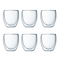 Bodum Pavina Double Wall Glasses Set of 6 0.25L