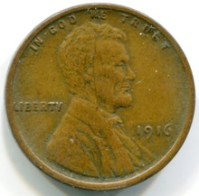 1916 Lincoln Cent XF