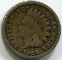 1862 Indian Head Cent G