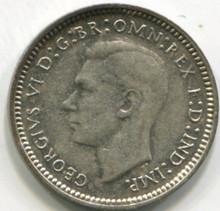 1942 D Australia Three Pence